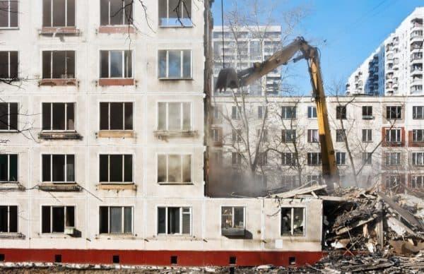 Снос пятиэтажек в Москве