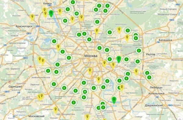 Карта стартовых площадок