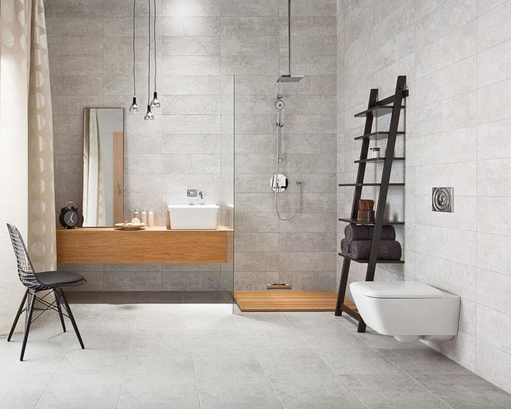Керамическая плитка в стиле лофт в ванной