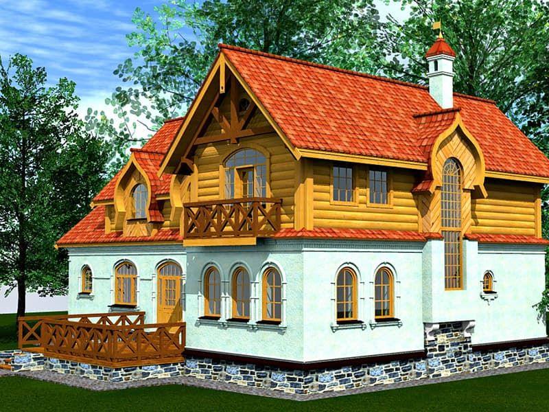 Русский деревянный дом 3