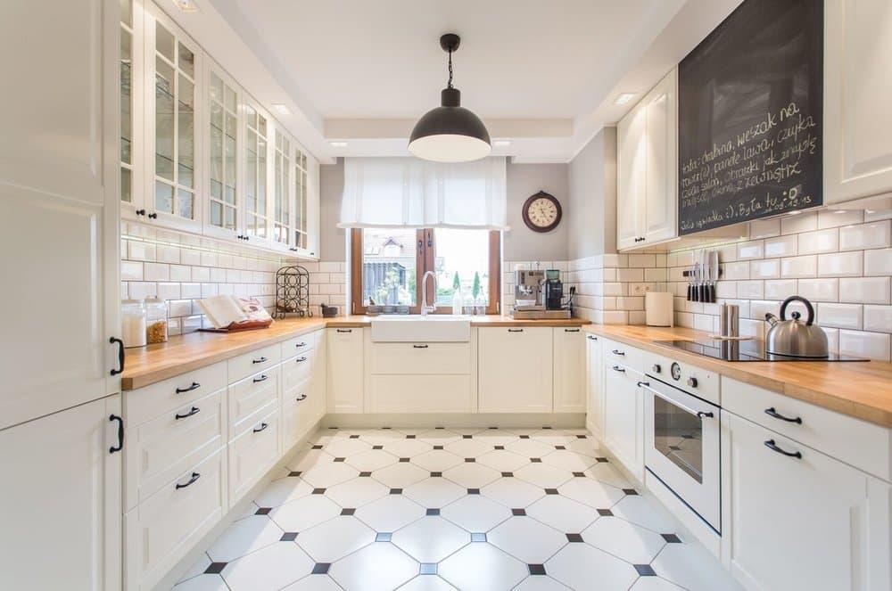 Пол на кухне в скандинавском стиле