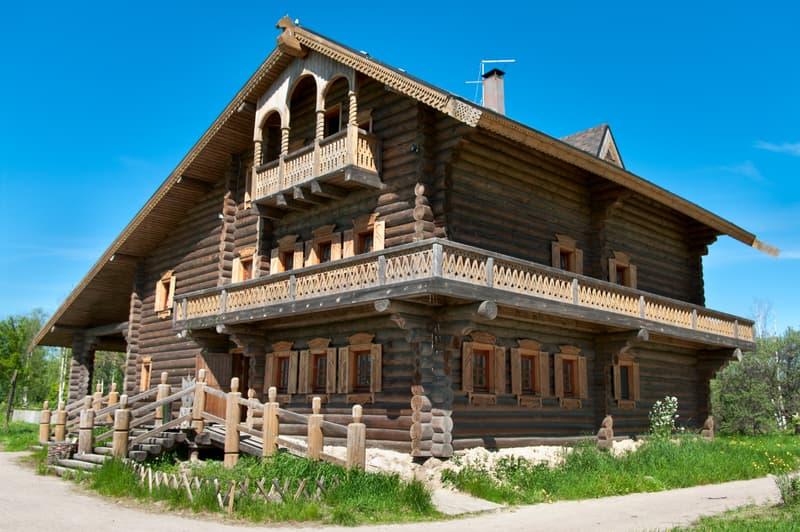 Улучшенный вариант домов в стиле русской усадьбы