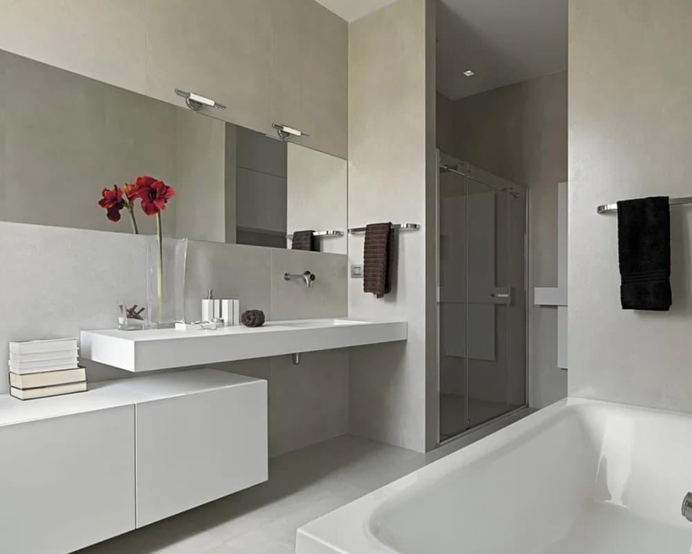 Ванная комната в серы тонах