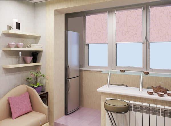 Убираем часть стены при совмещении кухни и балкона