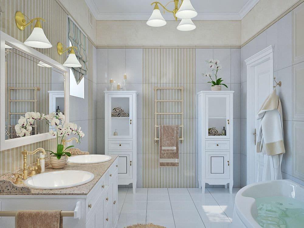 Французский стиль в интерьере ванной