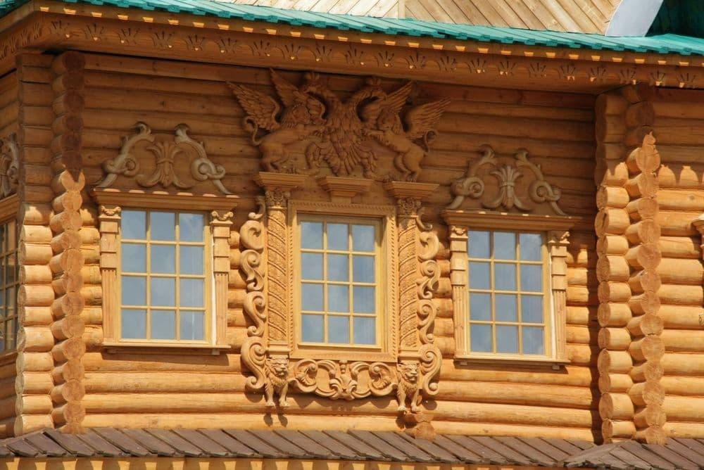 Экстерьер деревянного дома