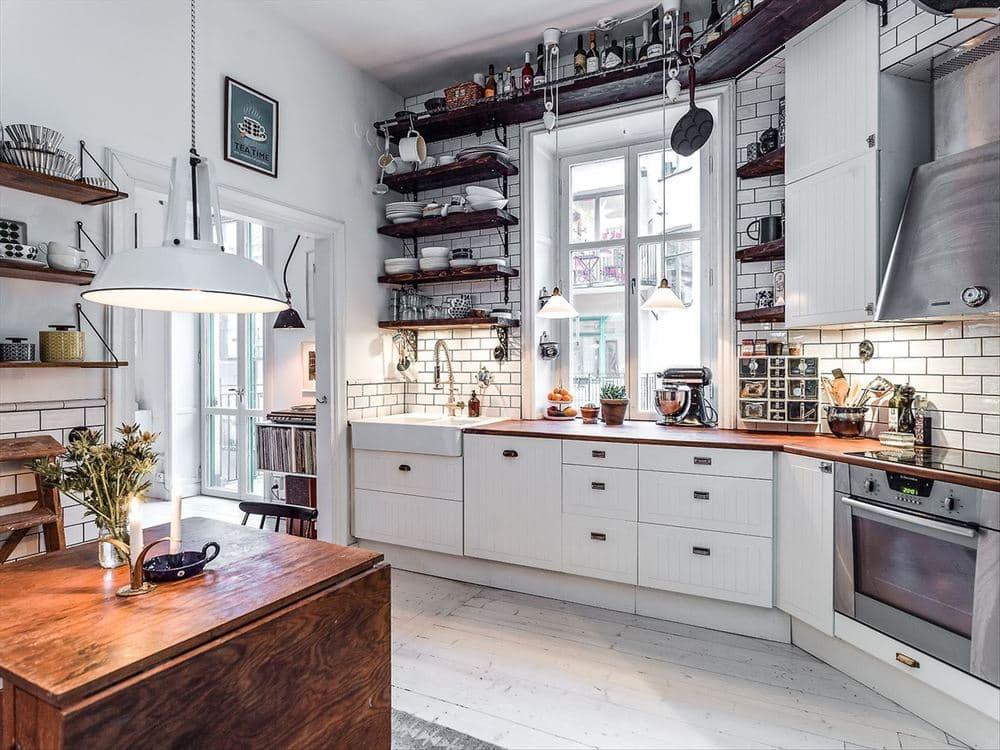 Кухня в стиле скандинавский лофт