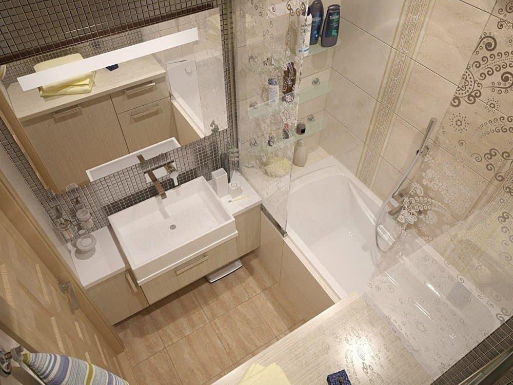 Дизайн ванной комнаты небольших размеров