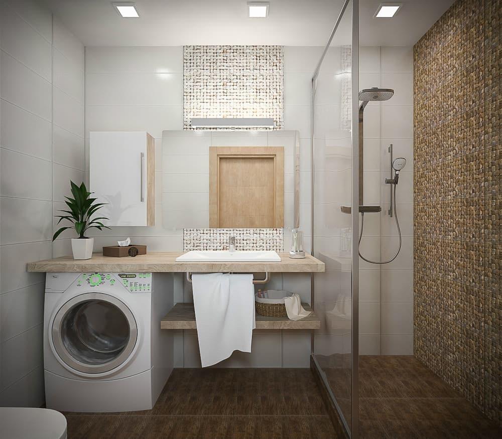 Ванная комната в спокойных тонах
