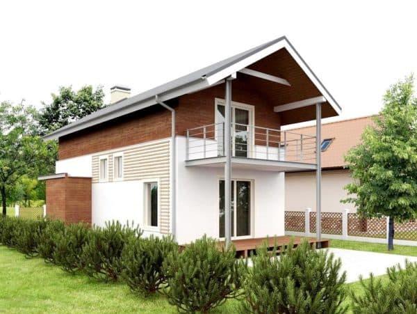 Двухэтажный узкий дом