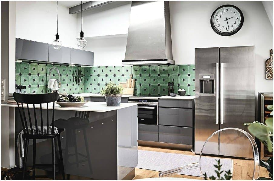 Скандинавская кухня в серых тонах