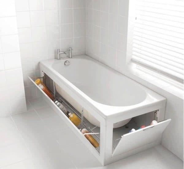 Полочки под ванной