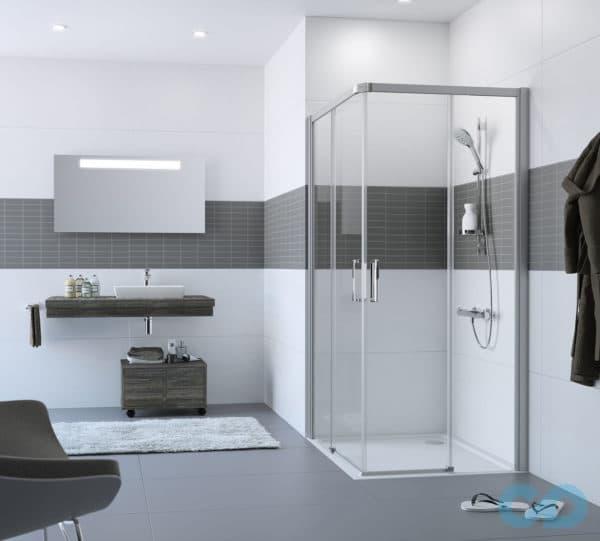 Стилевое оформление ванной комнаты с душевой кабиной