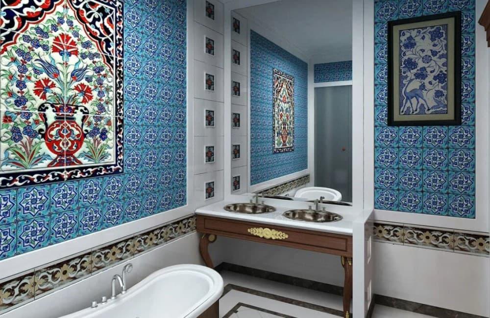 Восточный стиль в ванной комнате