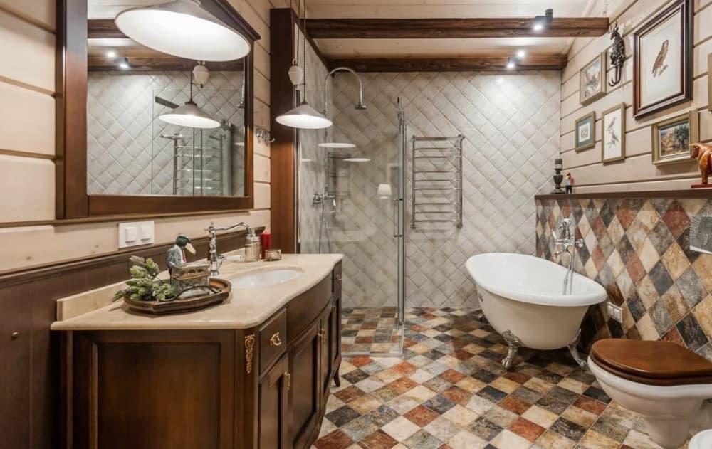Кантри стиль в ванной