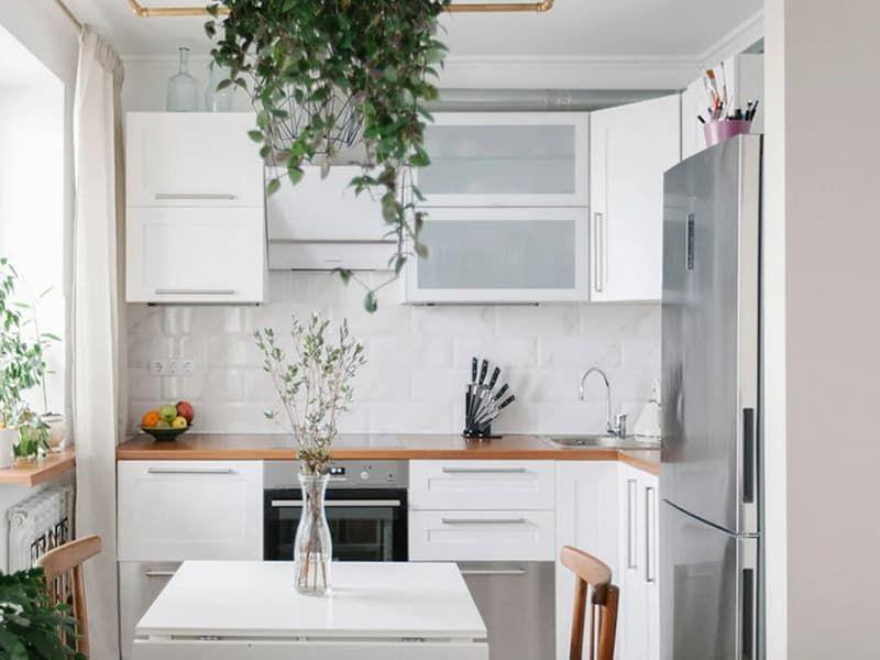 Фотопример дизайна кухни в хрущевке
