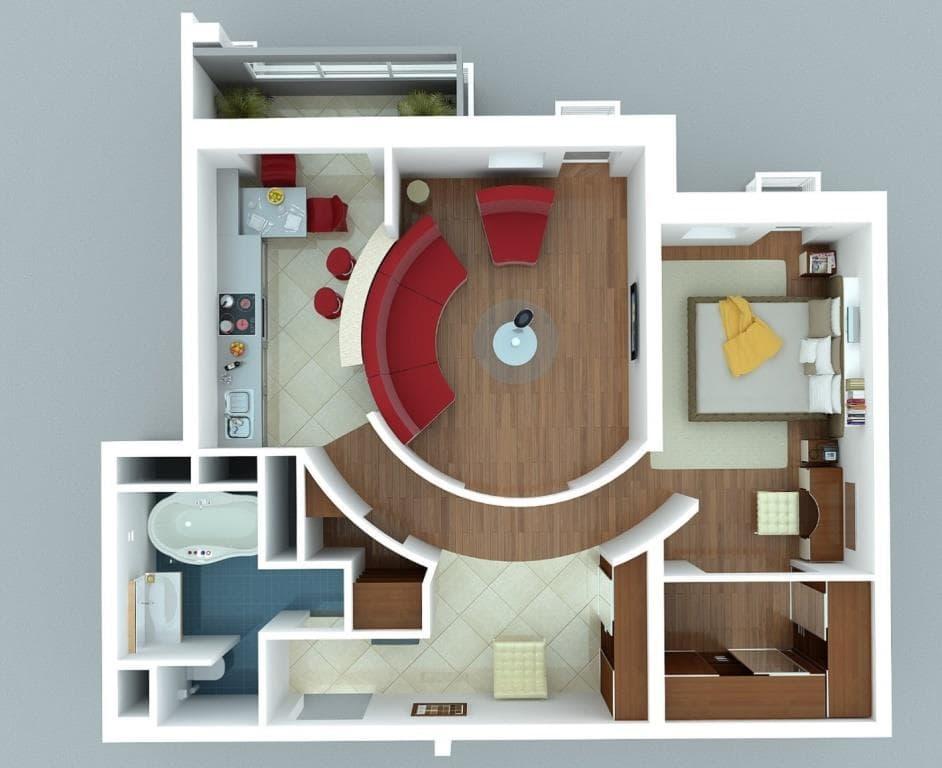 Необычная перепланировка квартиры