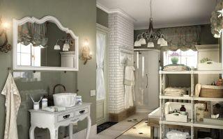 Ванная комната в стиле прованс: дизайн, выбор мебели