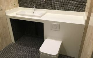 Акриловые столешницы в ванную комнату