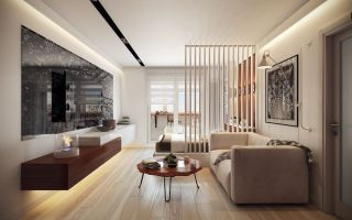Грамотная планировка и дизайн квартиры 45 кв. м