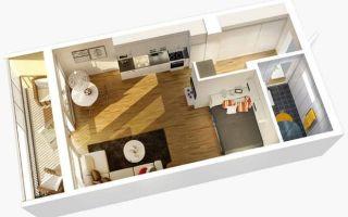 Хитрости при планировки квартиры-студии