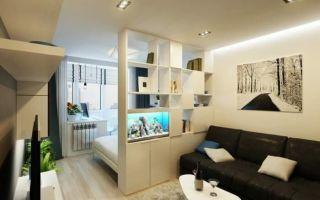 Дизайн и планировка комнаты 20 кв. м: спальня и гостиная вместе, интересные решения интерьера