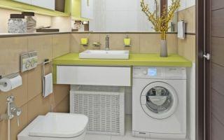 Небольшой туалет со стиральной машиной – варианты дизайна интерьера