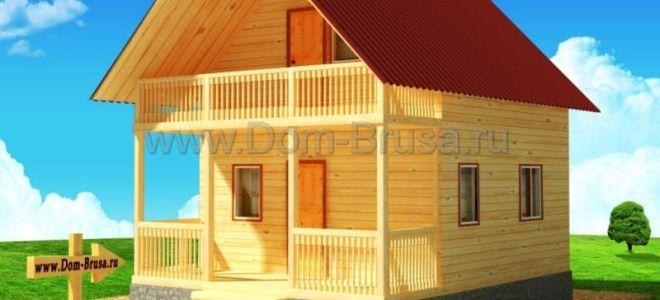 Тонкости при планировке и проектировании дома 6 на 8 с мансардой: выбор материала, примеры типовых проектов