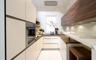 Дизайн узкой кухни: правила рациональной организации