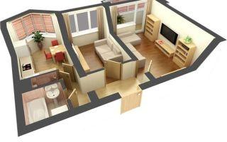 Возможности и варианты перепланировки двухкомнатной квартиры