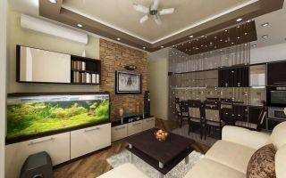 Современный дизайн кухни-гостиной 30 кв. м: планировка и фото интерьера
