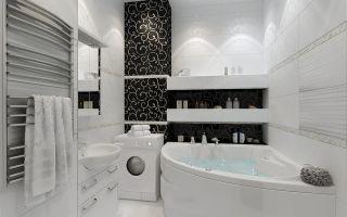 Маленькая ванна 4 квадратных метра: обустройство и отделка, современный дизайн