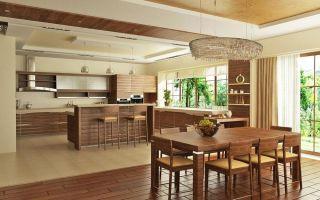 Интересные решения планировки большой кухни в квартире и частном доме: фото различных вариантов