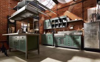 Кухня в стиле лофт – особенности интерьера и декора