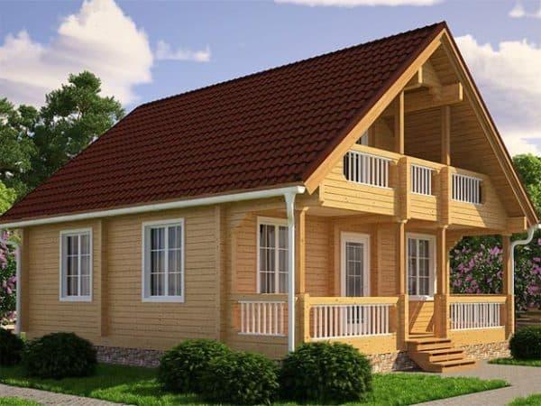 недорогой дом из бруса