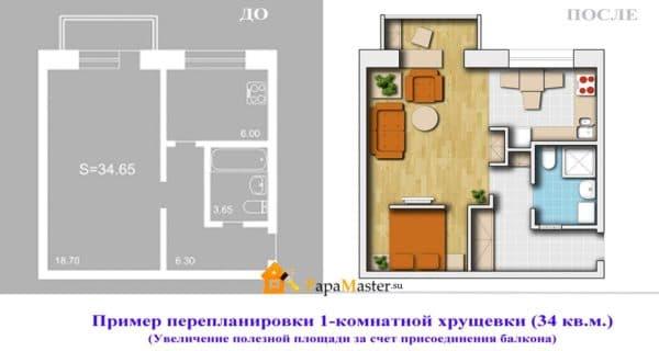 odnokomnatnaya-xrushhevka-pereplanirovka