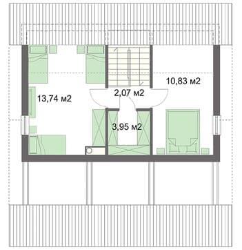Дом 6х10 второй этаж