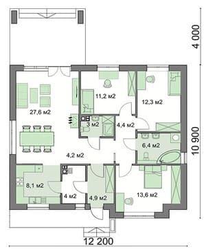 Одноэтажная постройка