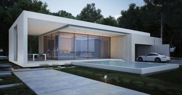 Дом в стиле хай-тек с гаражом