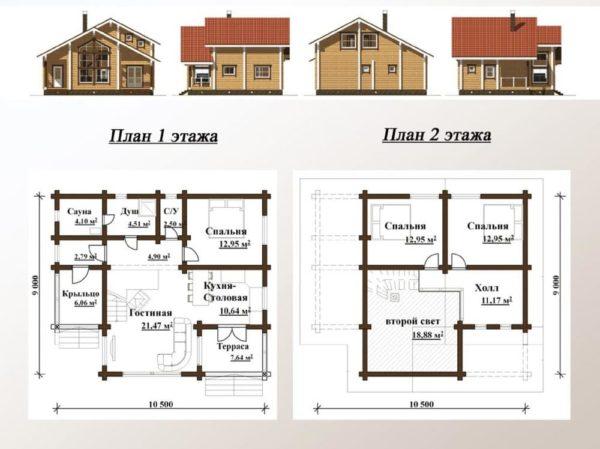 Образец планировки дома