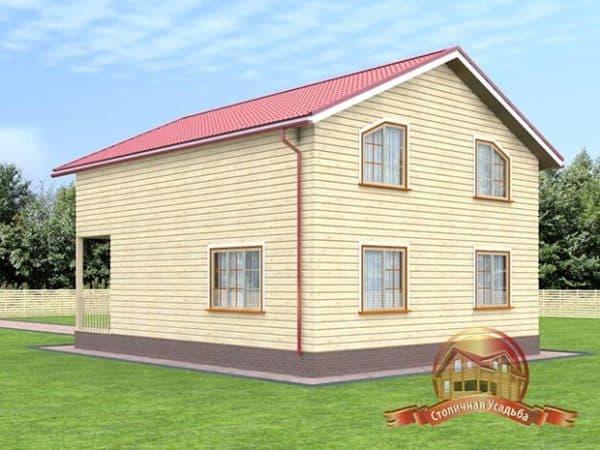 Дом 8 на 10 двухэтажный