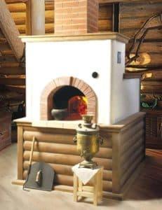 Печка в деревенском доме