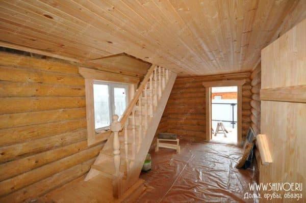 Дом баня 6х6 внутри