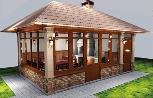 Фасад летней кухни