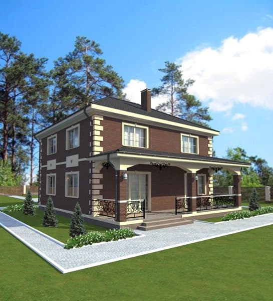 1_двухэтажный дом 10 на 10