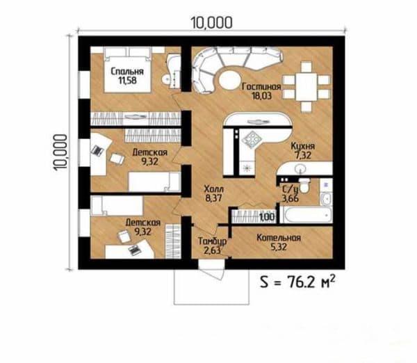 Пример планировки первого этажа
