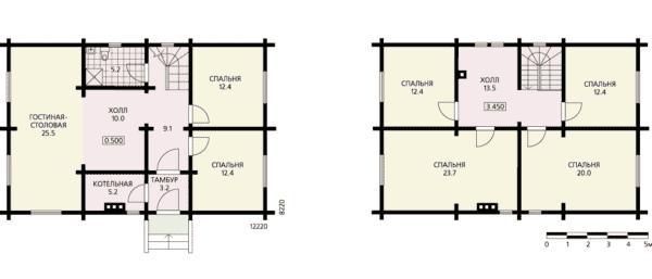 Двухэтажный дом 8 на 12