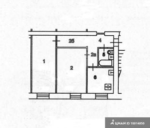 Двухкомнатная квартира в доме 1-447