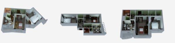 Двухкомнатные квартиры серии п-3мк