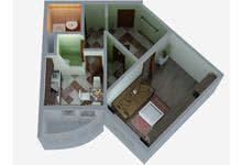 Однокомнатная квартира серии п-3мк